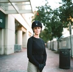 Jill (yonas1) Tags: street portrait horse 120 6x6 film mediumformat washingtondc dc kodak jill hasselblad jockey rider portra400 503cx