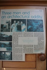 Three men and an architectural oddity (Vaughanoblapski!) Tags: news article wellington img homestay koromiko