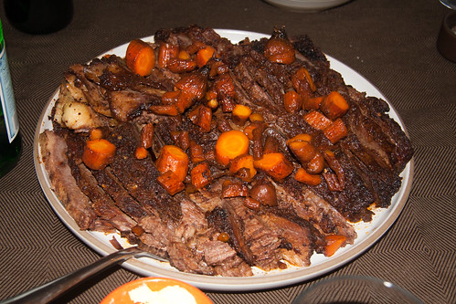 Finished Brisket with Carrots