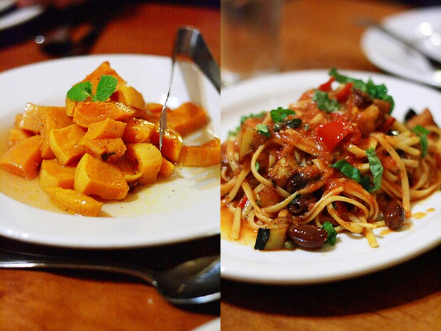 Trattoria La Siciliana's Butternut Squash Appetizer and Pasta