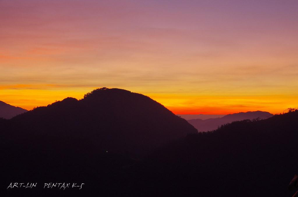 20111115阿里山山脈太和夕景