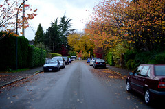 Autumn Street (JoelZimmer) Tags: travel canada vancouver britishcolumbia kitsilano highlighted 28mmf28seriese nikond7000