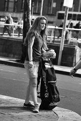 Teenage smoker (RedKoala1) Tags: ireland bw irish girl blackwhite streetphotography smoking smoker nikond60 teenageer