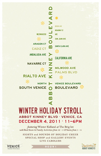 "Abbot Kinney ""Winter Holiday Stroll"": December 4th"