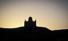 Mosque on a Ridge at Sunset (pusspaw) Tags: silhouette dusk egypt mosque nile ridge aswan