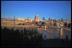 View from Tate Modern (Baba Sakae) Tags: uk bridge blue sky thames river cathedral