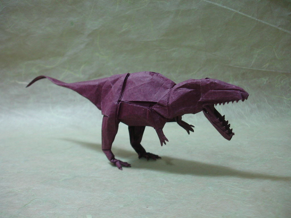 The worlds best photos of giganotosaurus and origami flickr origamido giganotosaurus shukikato tags paper origami dinosaur fold kato shuki theropod jeuxipadfo Choice Image