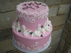 s133 (hayleycakesandcookies) Tags: cake pattern shine dot bakery swirl rise shape