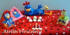 Itens decorao (ViviLeleca) Tags: galinha infantil feltro em festa bichinhos tecido pintadinha