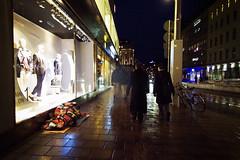 Under the quilt (Fredrik Forsberg) Tags: street dark evening spring sweden stockholm homeless rainy vr lx3