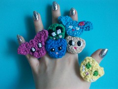 Animal Rings! (Mooy) Tags: cute animal shop crochet jewelry rings kawaii etsy amigurumi mooeyandfrineds