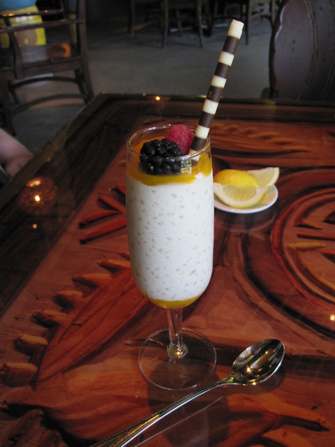 Mango-Berry Tapioca Pudding