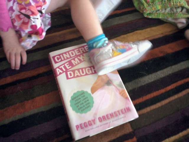 Her new princess shoes w my new book.
