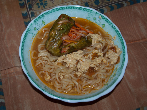 Noodles con kimchi (Corea)