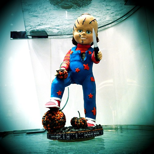 Oh no! Chocolate Chucky has come back at Jean Philippe Patisserie in @BellagioLV #Vegas #food
