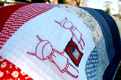 mod log cabin girls (cathygaubert) Tags: doll pretty quilts patchwork