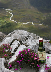 Jameson on the rocks (Ray Catcher (Ex-Donkys Freund)) Tags: berg natur irland connemara donky whisky arrangement perspektive jameson felsen derryclare produktpräsentation