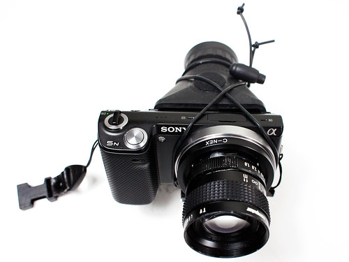 Sony Nex 5N with 50mm 1.8 HoodLoupe