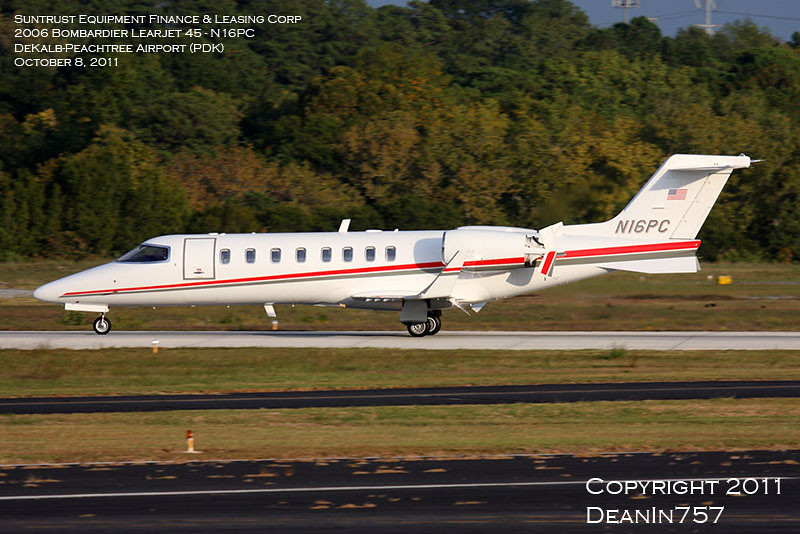 KPDK-10-08-2011 - Suntrust Equipment Finance & Leasing - 2006 Bombardier Learjet 45 - cn45-319 - N16PC