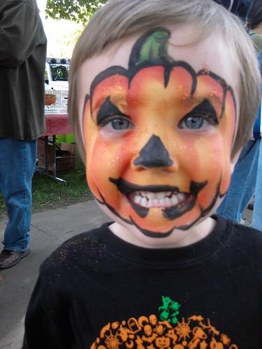 Olsen's Pumpkin Face!