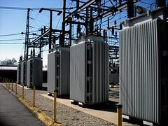Redlands 66-4kV Transformers (IE Rick) Tags: california ca tower cali high wire power transformer cable pole redlands substation fuse voltage sce insulator 4kv 66kv 12kv