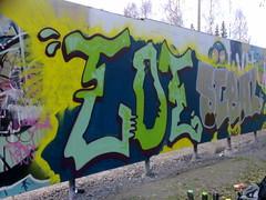 Graffiti Jkl (luikerrus) Tags: street art finland lights graffiti you will guide jkl vrit keltainen hohto huomaa killeri rvkt bakkiksen