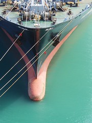 Bow (mikecogh) Tags: nose ship deck cables bow rollers shape acqua napier tethered moored winches