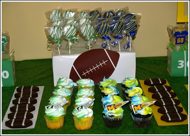 Football Party Table Closeup
