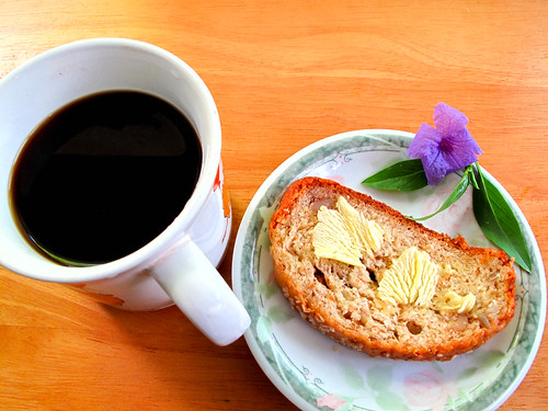 IMG_1929 Tea Break : Multigrain Wholemeal Bread with Black Coffee . 下午茶 : 杂粮全麦面包和黑咖啡