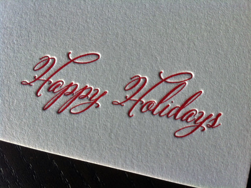 Flocking Stockings Letterpress Holiday Card