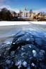 Breaking the ice (blinkingidiot) Tags: lake snow ice foreground nottinghamuniversity highfieldpark mygearandme universityofnotingham