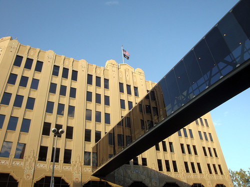 City Hall with skywalk.