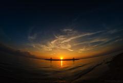 Morning Curve (eggysayoga) Tags: sunset bali beach indonesia sand fisheye shore 8mm pantai sanur karang samyang d7000
