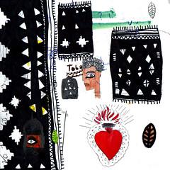 Toba (Some Milk) Tags: art illustration carpet pattern heart drawing tapis exotic arab souk rug egytian