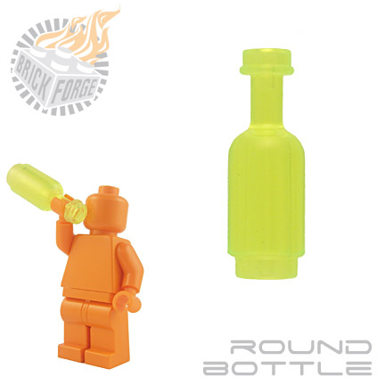 Round Bottle - Trans Neon Green