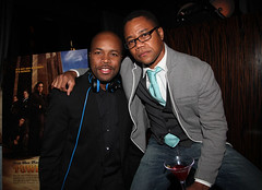 Tower Heist party nas russell simmons sticky fingaz rocsi diaz Gabourney Sidibe Cuba Gooding Jr