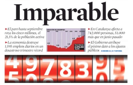 11j29 LV Herencia Zapatero 5 millones parados