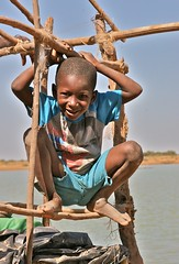 Young Fulani Boy (**El-Len**) Tags: africa boy smile child play westafrica scaffold mali fulani thegalleryoffinephotography womi