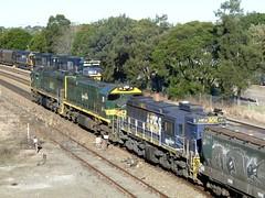 different engines (sth475) Tags: railroad autumn train clyde gm afternoon diesel grain railway sunny loco australia domestic nsw locomotive coal fc freight vr fa pn huntervalley goodwin alco maitland emd x45 x51 xclass 9012 9014 9034 90class 48158 nswr 48class dl531 branchlineloco g26c millwheat gt46cwm