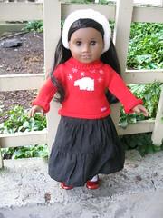 Sonali in the PwP Sweater set (Nethilia) Tags: sonali americangirl