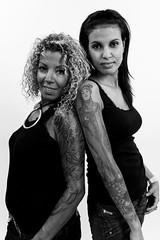 Sousou & Nadia (01) - 4th Tattoo Art Fest - 19Sep10, Paris (France) (°]°) Tags: portrait blackandwhite bw woman paris cute sexy art girl tattoo bar ink restaurant nadia arm noiretblanc femme 4 4th nb piercing convention salon 37 fest manager bodyart encre bras tatouage sousou piercer quatrième tattooartfest