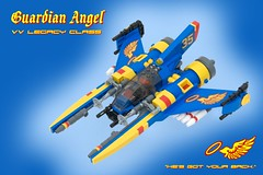 Guardian Angel (ted @ndes) Tags: blue space guardianangel tribute vv starfighter gradius vicviper nnenn nnovvember