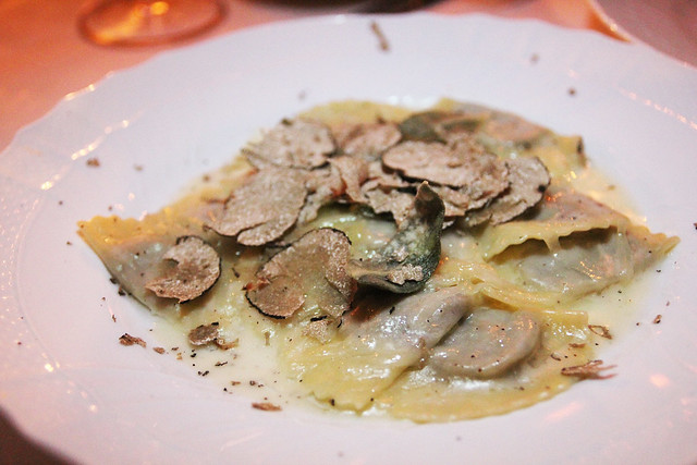 Housemade mezzeluna ravioli by Caroline on Crack