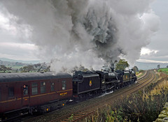 The Buxton Spa Express (FlyingScotsman4472) Tags: en black station buxton 5 district peak railway chapel steam le frith locomotive express spa preservation combs lms mainline 45407 44871
