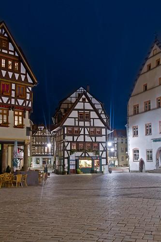 Marktplatz Schmalkalden am Abend