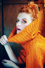 Cocoon (basistka) Tags: orange woman colors make up poland cocoon basistka xbasistkax leniaska