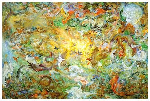 015-Mahmoud  Farshchian-Quinto dia de la creacion-via deviantART