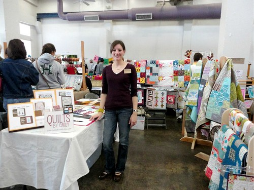 my booth at Etsy Denton Handmade Harvest