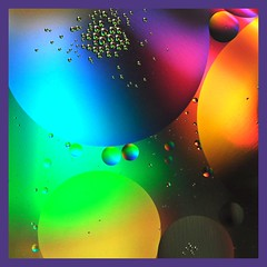 Colors of the Rainbow (lclower19) Tags: macro water colors square nikon cd bubbles oil tamron 90mm d90 assignment52522011