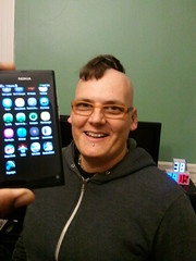 Myriam Joire of Engadget shows off her Nokia N9